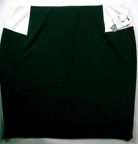 NWT Liz Claiborne Women's Pencil Skirt Size 3X Pull On Black White