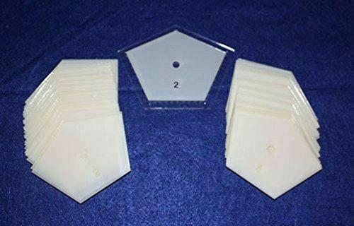 """Mylar 2"""" Sides -Flattened Pentagon 51 Piece Set - Quilting / Sewing Templates"""