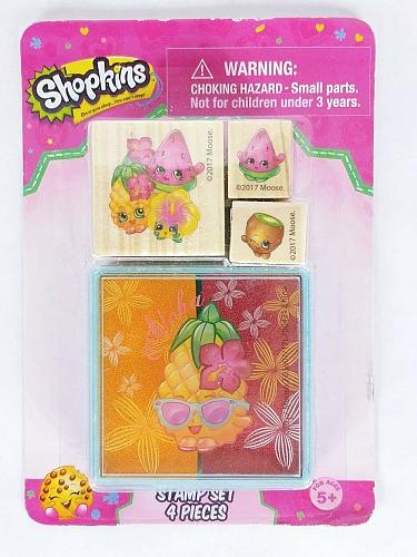Shopkins Mounted Rubber Stamp Set With Ink Pad Brand New