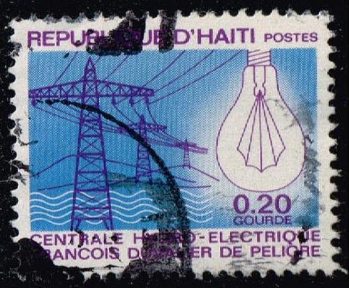 Haiti #617 Power Lines and Light Bulb; Used (0.25) (1Stars) |HAI0617-02XVA