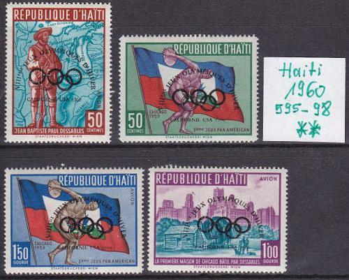 HAITI [1960] MiNr 0595-98 ( **/mnh ) Überdruck Olympiade