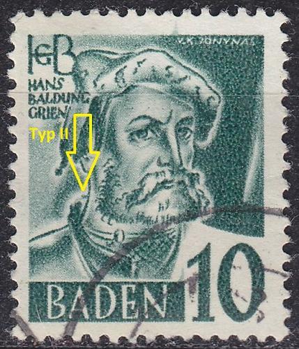 GERMANY Alliiert Franz. Zone [Baden] MiNr 0033 y II ( O/used ) [01]