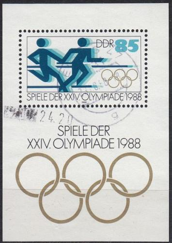GERMANY DDR [1988] MiNr 3189 Block 94 ( OO/used ) Olympiade