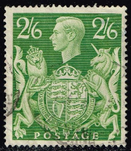 Great Britain #249A King George VI & Royal Arms; Used (1.50) (1Stars) |GBR0249A-04XRS