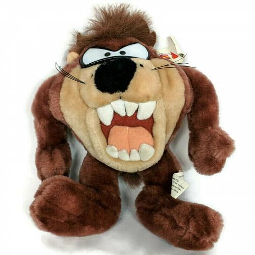 "NWT Six Flags Tasmanian Devil Taz Looney Tunes Plush Stuffed Animal 2001 10.5"""