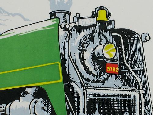 "Vintage Train Railroad Railway Tile Trivet Plaque Employee Safety Award 6"" CN"