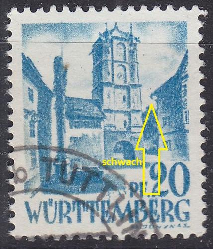 GERMANY Alliiert Franz. Zone [Württemberg] MiNr 0007 yv II ( O/used ) [02]