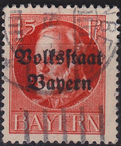 GERMANY Bayern Bavaria [1919] MiNr 0120 A ( O/used )