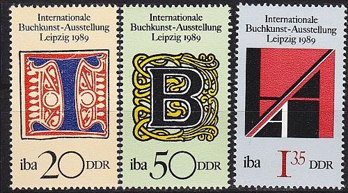 GERMANY DDR [1989] MiNr 3245-47 ( **/mnh )