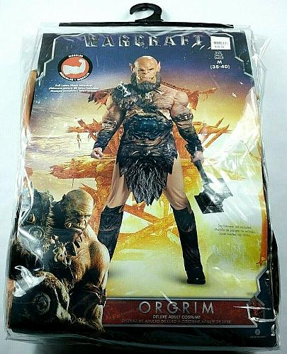 Warcraft Orgrim Orc Deluxe Muscle Halloween Costume Adult Size Medium 38-40