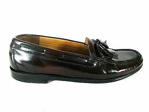 Cole Haan Burgundy Leather Bow Tassel Kilt Dress Loafer Shoes Men's 10.5 D (SM2)