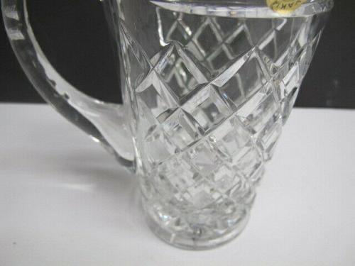 Czechoslovakia cut glass pitcher hand cut