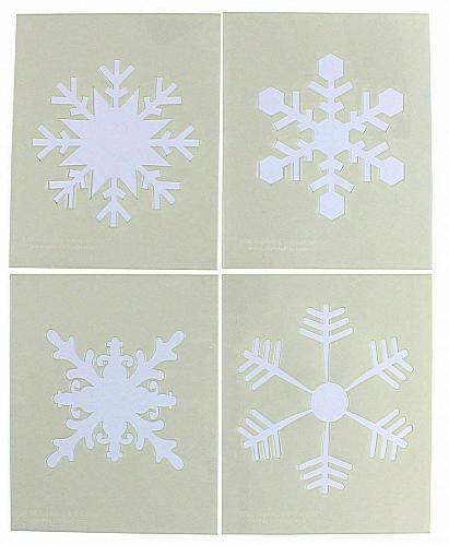 "Large Snowflake 4 Piece Stencil Set 14 Mil 8"" X 10"" Painting /Crafts/ Templates"