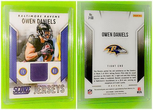 Nfl Owen Daniels Baltimore Ravens 2015 Panini Game-worn Jersey Mnt