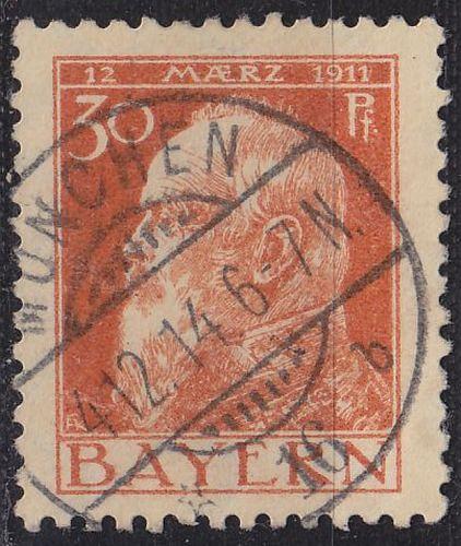 GERMANY Bayern Bavaria [1911] MiNr 0081 II ( O/used )
