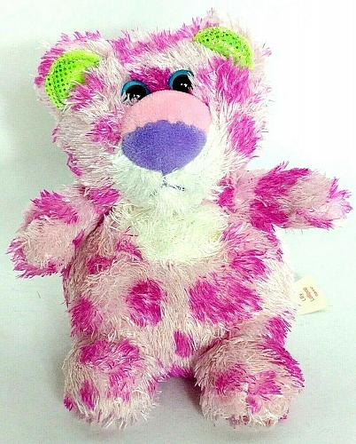 """Russ Yummy Luvvies Lilly Lollipop Pink Leopard Cat Plush 6"""""""