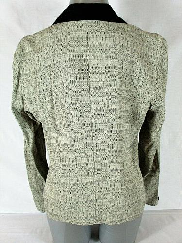 PERCEPTIONS womens Sz 8 L/S green black 3 BUTTON UNLINED blazer jacket (A8)P