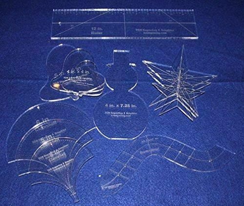 """Holiday Gift Set - ~1/4"""" Acrylic-- 12 Pieces -Quilting Templates"""