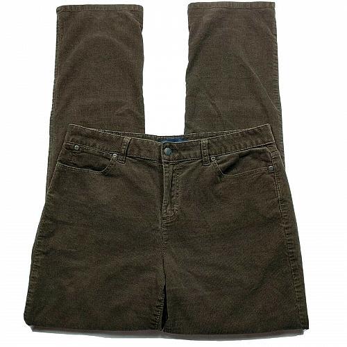 "Talbots Womens Heritage Dress Pants 32"" Waist Brown Corduroy Stretch"