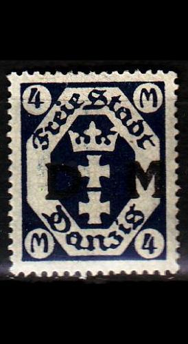 GERMANY REICH Danzig [Dienst] MiNr 0020 ( */mh )
