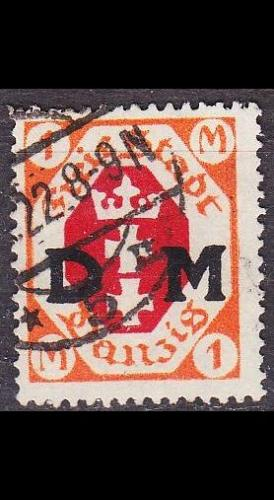 GERMANY REICH Danzig [Dienst] MiNr 0011 ( OO/used )