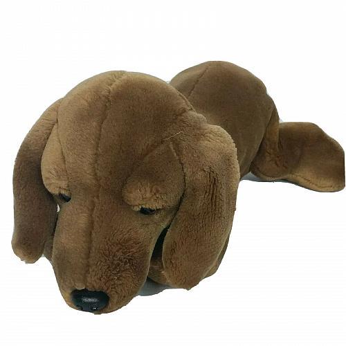 """Toys R Us Animal Alley Dachshund Weiner Dog Plush Stuffed Animal 2000 14.5"""""""
