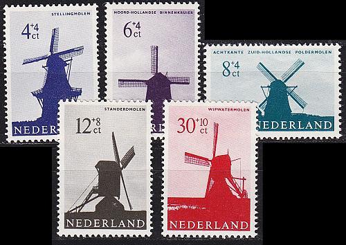 NIEDERLANDE NETHERLANDS [1963] MiNr 0794-98 ( **/mnh ) [01]