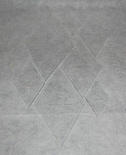 "Diamond Templates 2"", 3"", 4"" 5"", 6"", 7"", 8"" - Clear 1/8"" 60 Degree"