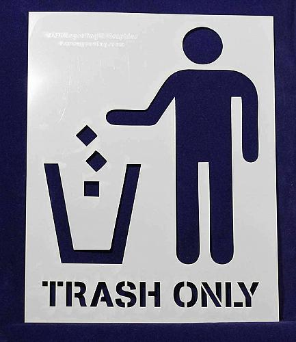 """Recycle-Trash (with words) 2 Piece Stencil Set 14 Mil 8"""" X 10"""" Painting /Crafts/"""
