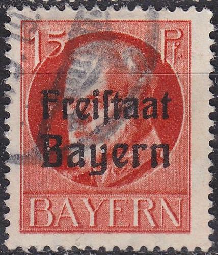 GERMANY Bayern Bavaria [1919] MiNr 0156 A ( O/used )