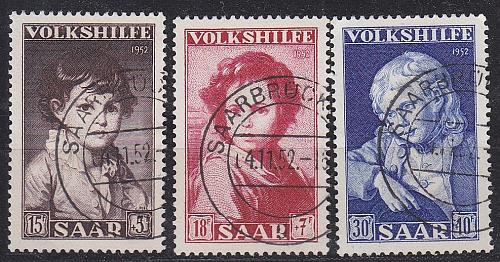 GERMANY Saar [1952] MiNr 0338-40 ( O/used )