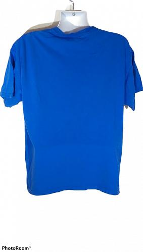 Player Of The Year Bow To Da Brow Men's T-Shirt XL Blue Graphic Short Sleeve