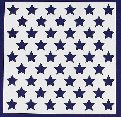 """50 Star Field Stencil 14 Mil -14""""H X 14L"""" - Painting /Crafts/ Templates"""