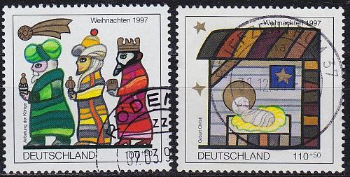 GERMANY BUND [1997] MiNr 1959-60 ( O/used ) Weihnachten