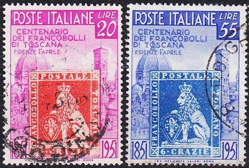 ITALIEN ITALY [1951] MiNr 0826-27 ( O/used )