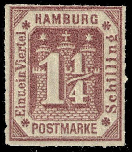 Germany-Hamburg #24R Coat of Arms - Reprint; MNH (4Stars) |HAM24R-01XRP