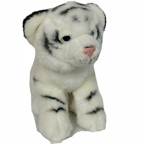 "Toys R Us Bengal White Tiger Zoo Animal Plush Stuffed Animal 2012 9"" Tall"