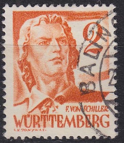 GERMANY Alliiert Franz. Zone [Württemberg] MiNr 0028 y b ( O/used )