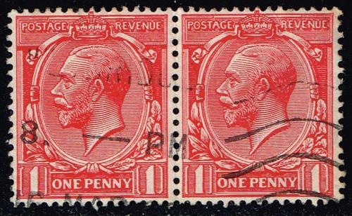 Great Britain #160 King George V; Used Pair (2.20) (4Stars)  GBR0160-04XRS
