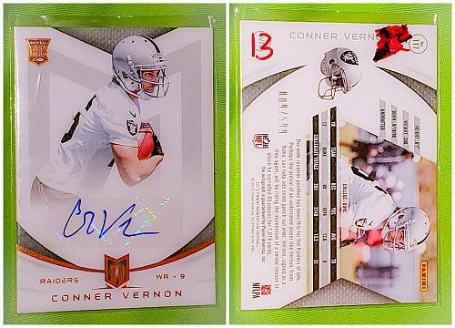 NFL Conner Vernon Oakland Raiders Autographed 2013 Panini momentum RC /599 Mint