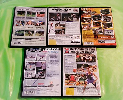 LOT OF 5 SONY PLAYSTATION 2 SPORTS GAMES ORIGINAL CASES LOW BID
