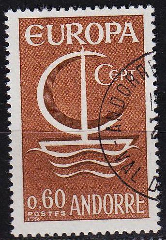 ANDORRA FRANZÖSISCH [1966] MiNr 0198 ( O/used ) CEPT
