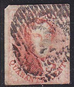 BELGIEN BELGIUM [1858] MiNr 0009 II ( O/used ) [01]