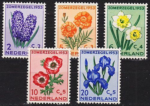 NIEDERLANDE NETHERLANDS [1953] MiNr 0607-11 ( **/mnh ) Blumen