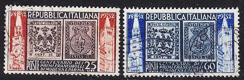 ITALIEN ITALY [1952] MiNr 0861-62 ( O/used )