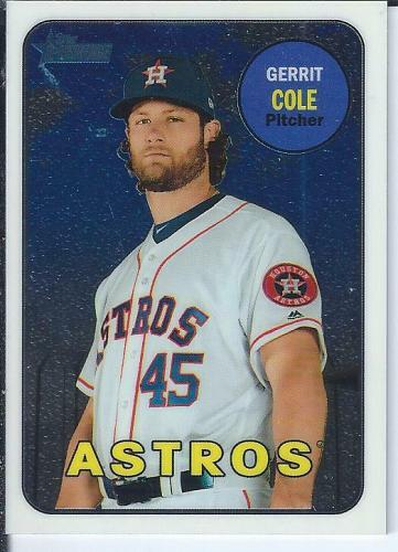 Gerrit Cole 2018 Topps Heritage High Numbers Chrome #ed / 999