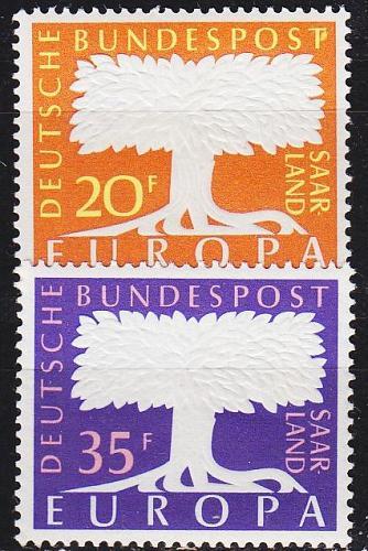GERMANY Saar [1957] MiNr 0402-03 ( **/mnh ) CEPT