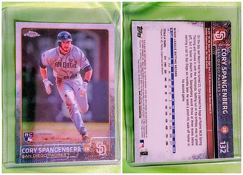 MLB CORY SPANGENBERG SAN DIEGO PADRES 2015 TOPPS CHROME ROOKIE #132 MINT