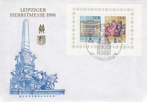 GERMANY DDR [1986] MiNr 3038-39 Block 85 ( FDC )