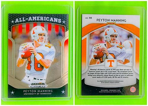 NFL PEYTON MANNING INDIANAPOLIS COLTS 2019 PANINI PRIZM ALL AMERICAN #98 MINT